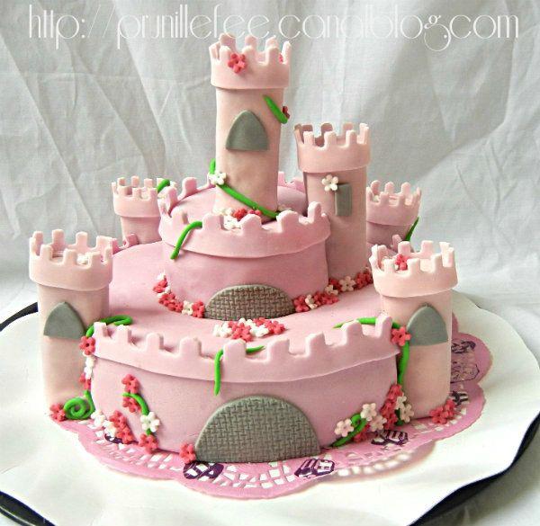 gateau chateau de princesse pte sucre gateau 3d - Gateau Anniversaire Fille 5 Ans