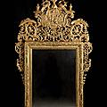 Miroir italien, fin du <b>XVIIe</b>-<b>début</b> du <b>XVIIIe</b> <b>siècle</b>