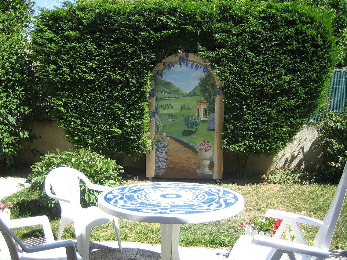 décor pour jardin - Photo de 003 Fresques et trompe-l\'oeil - La ...