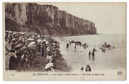 76 - Le Tréport - Plage à marée haute