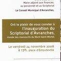 inauguration officielle d'Avranches (50), le musée des manuscrits du Mont-Saint-Michel