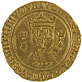 Louis XII (1498-1514). <b>Ecu</b> <b>d</b>'<b>or</b> au porc-épic de Bretagne, 2ème type