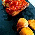 Crostini de tomates cerises confites à l'huile d'olive
