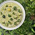 ...Risotto au pistou et <b>brocolis</b> grillés, Cyril Lignac, Tous en cuisine...