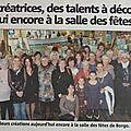 Article dans le journal, Novembre 2012