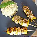 Brochettes de saumon au barbecue