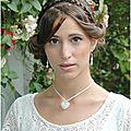 Collier coeur, simple et raffiné pour la mariée ou son cortège perlaminette