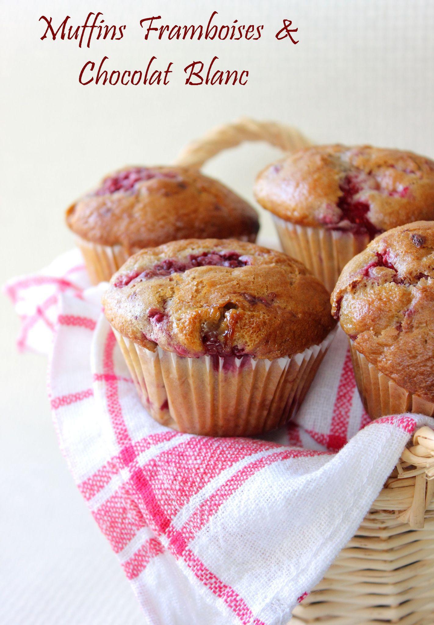 Muffins Framboises & Chocolat Blanc copie