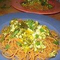 Spaghetti de kamut au pesto