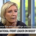 Video. exclusif - marine le pen invitée de cnn: burkini, brexit, trump...