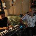 Scéance d'enregistrement avec Akhenaton au studio le Petit mas
