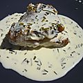 Un tour en cuisine à thème: sauce au beurre, citron et ciboulette