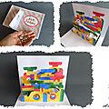 Après le paper toy... voici le <b>kirigami</b> toy : un circuit à billes repliable