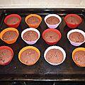 Cupcakes choco-pépites glaçage nutella
