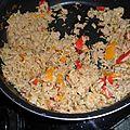 Riz au thon chaud, poivrons et piment d'espelette 9 pp / personne