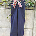 La tenue de <b>M</b>. : pantalon à pont et blouse