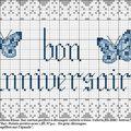 Bon anniversaire aux papillons bleus, avec découpes