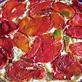 Tatin de brandade aux poivrons rouges
