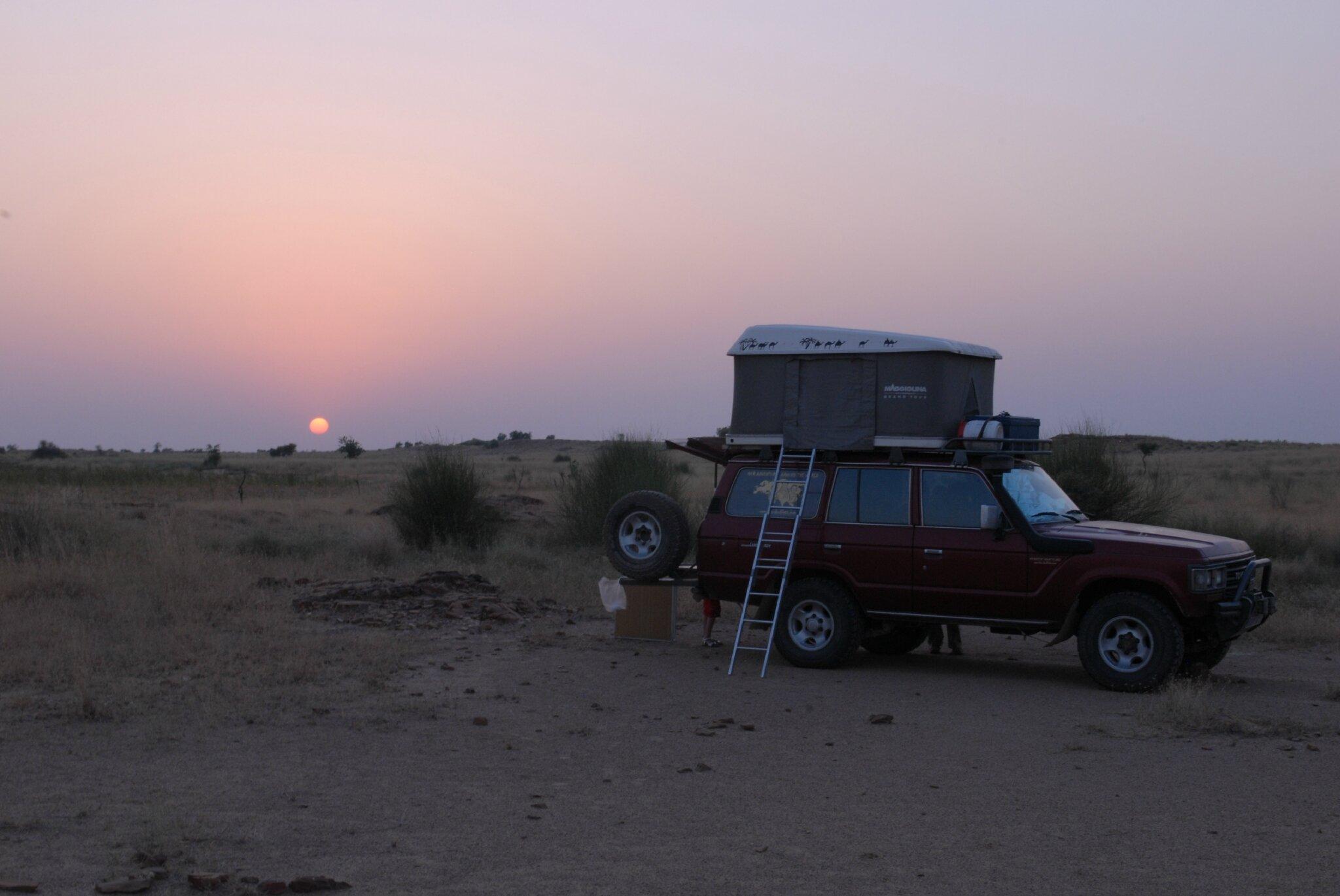 bivouac dans le desert du thar