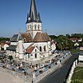 L'église vu d'en haut !
