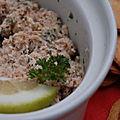 Rillettes de thon aux câpres et au citron