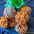 Boulettes de carotte au chèvre frais