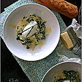 Œufs poches aux épinards & a la crème de cheddar