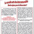Nouvelles intercommunalités : incohérences et dangers