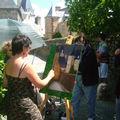 peintre dans la rue Ste Suzanne