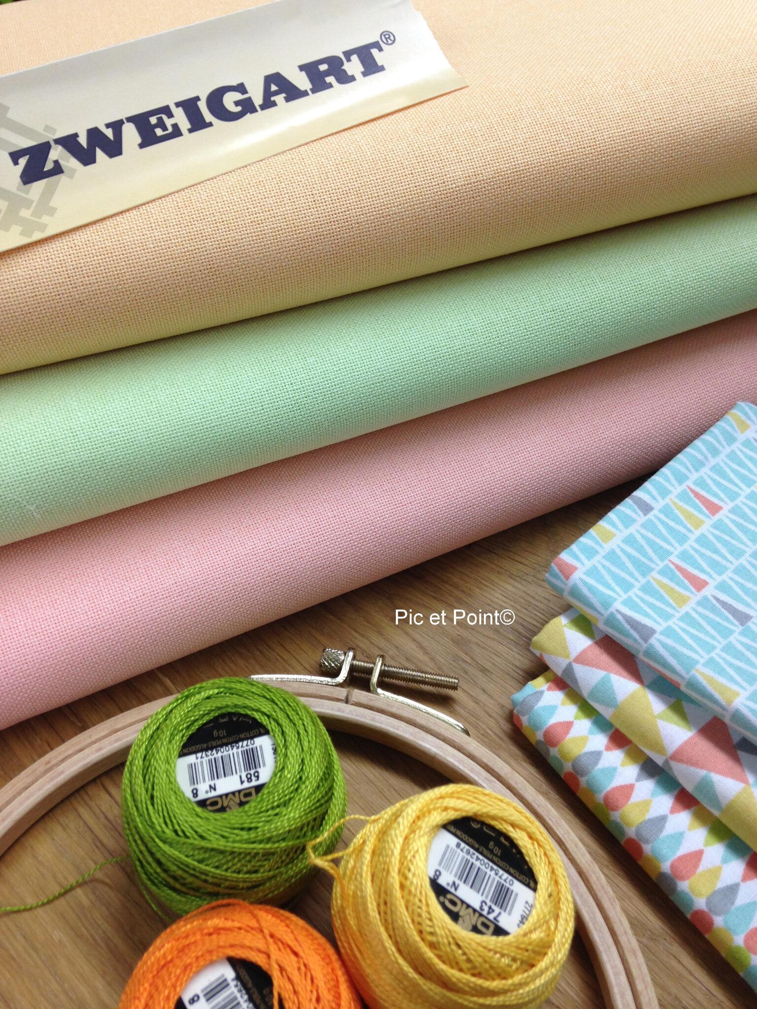 Nouveaux coloris Toiles 12Fils Zweigart...