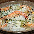 Cassoulet de la mer (julienne, mogettes)