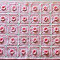 Couverture bébé Fleur Rose
