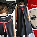 Robe trapèze de style Sixties Noire rouge blanche