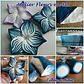 Atelier de création en pâte polymère : les fleurs en relief