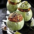 Courgettes rondes farcies au quinoa