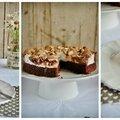 Gâteau au chocolat, noisettes et meringue
