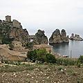<b>Sicile</b> - Palerme et le Val di Mazara (17/35). Castelamare et Scopello, baglio et tonnara.