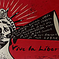Liberté - Linogravure