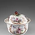 Important et rare sucrier rond couvert, Vincennes, Vers 1749-1751