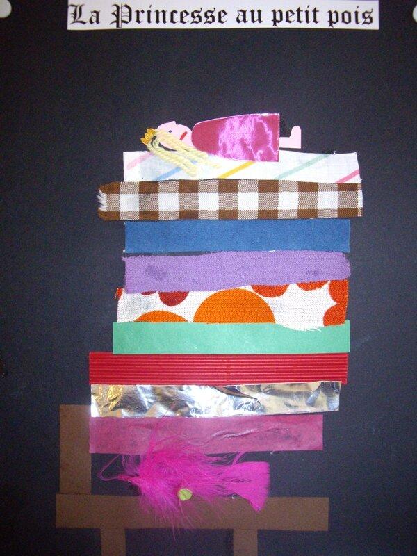 la princesse au petit pois arts visuels en maternelle. Black Bedroom Furniture Sets. Home Design Ideas