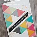 Cartes avec The Right Triangle de <b>Stampin</b>' <b>Up</b>!
