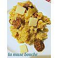 *risotto au chorizo et parmesan*