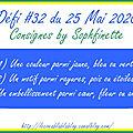 Défi #32 du 25 mai 2020