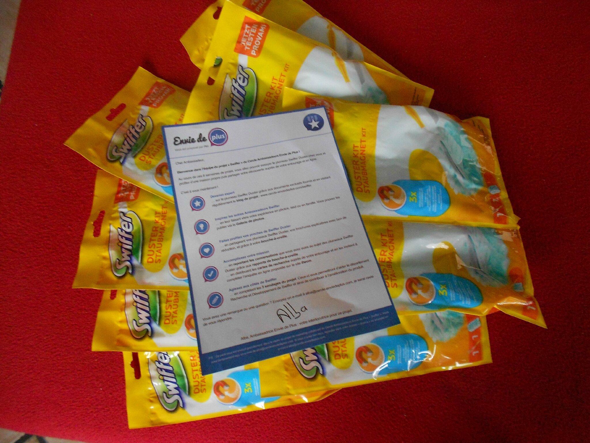 #ENVIEDEPLUS #SWIFFER : Merci réception du colis faite !