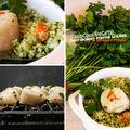 Couscous végétal et saint-jacques grillées