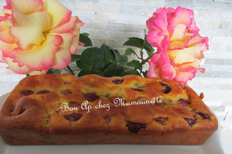 gâteau aux cerises du jardin et au mascarpone 011-