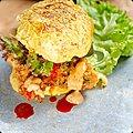 Chicken <b>burger</b>, sweet potato bun