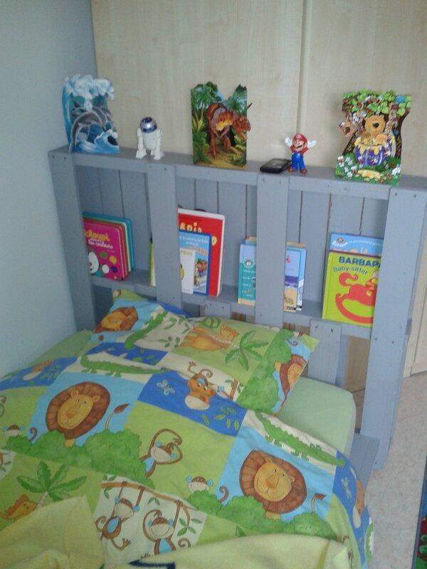 Recycler des palettes en lit 1 personne 1 2 et 3 breizh - Tete de lit une personne ...