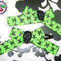 Commande de Gawelle: barrettes Princess Green Zombie black skulls
