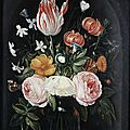Circle of <b>Jan</b> <b>van</b> <b>Kessel</b> <b>the</b> <b>Elder</b>, Roses, a tulip, a small Morning Glory, jasmine, a red turban cup lily, rosemary and other fl